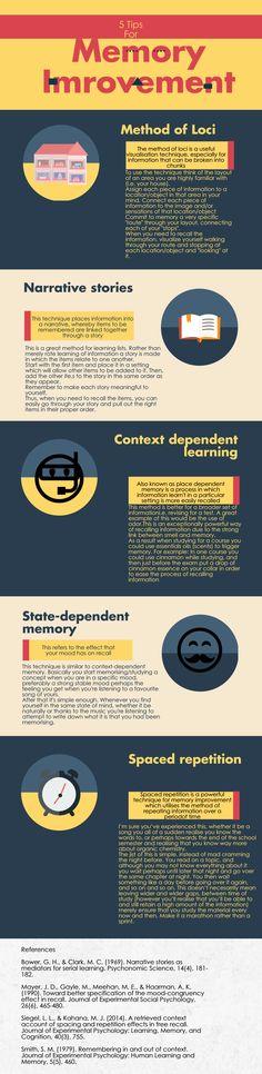Tips for memory improvement