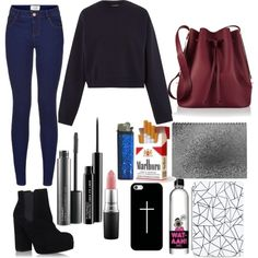 Untitled #7 by loloweed on Polyvore featuring polyvore fashion style Acne Studios KG Kurt Geiger Sophie Hulme Casetify MAC Cosmetics Shades of Grey by Micah Cohen