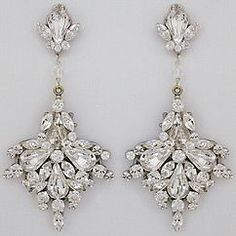 Large Fan Drop Bridal Chandelier Earrings.  These became a customer favorite immediately.