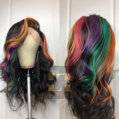 71 most popular ideas for blonde ombre hair color - Hairstyles Trends Ombre Hair Color, Purple Hair, Purple Ombre, Fun Hair Color, Hair Colorful, Multicolored Hair, Natural Hair Styles, Short Hair Styles, Colored Wigs