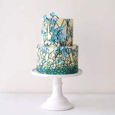 Sugarlips Cakes    Hand-Painted Stained Glass Wedding Cake