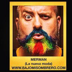 """NERMAN ¡Lo nuevo para los hombres! La tendencia arcoiris llega a la platea masculina. Un juego de palabras entre """"nermaid """" sirena y """"Man"""" hombre. WE ❤️ @bajomisombrero Avenida Madrid, 135 BARCELONA #followme #sigueme #itgirl #instagrampic #bestpic #streetstyle #beauty #blogera #bcn #Barcelona #blogdebelleza #look #hairsalon #Peluqueria #perruqueria #haircare #kerastase #KerastaseParis #kerastaseUsa #style #matrix #cambio #change #hairlook #beforeafter #gay #circuit #gaybcn"""
