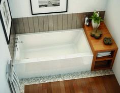 Drop In Bathtub, Small Bathtub, Small Bathroom, Master Bathroom, Bathroom Tubs, Bathroom Ideas, Double Bathtub, Wooden Bathtub, Bathtub Shower