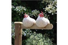 Obstgarten Keramik - All For Garden Chicken Crafts, Chicken Art, Chicken Fence, Concrete Crafts, Concrete Art, Ceramic Pottery, Ceramic Art, Ceramic Birds, Devon