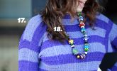 17. Kint Sweater and Pant Set by Silver Stitch 18. Colorful, clay bead necklace by Beadwork by CGM