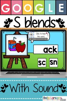 Learn Consonant Blends with Google Classroom! Use technology in your kindergarten and first grade class to help you assess consonant blends knowledg. Build phonics skills, increase reading fluency and confident readers.  Perfect for small groups intervention, literacy centers, independent practice or even for homework. Provide your students with daily phonics instruction to increase reading fluency. Perfect for your SpecialEd and ELL students. Works on Chromebooks. #Googleclassroom Literacy Stations, Literacy Centers, Language Activities, Fun Activities, Kindergarten Classroom, Kindergarten Readiness, Ell Students, Consonant Blends, Teaching The Alphabet