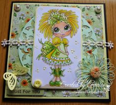 just for you Bestie card by Lorraine Lowe