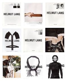 Editorial Layout, Editorial Design, Helmut Lang, Typography Design, Branding Design, Mode Lookbook, Campaign Fashion, Fashion Advertising, Fashion Collage