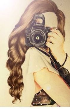 Drawing Ideas Girly Kristina Webb Ideas For 2019 Girly Drawings, Art Drawings Sketches, Hair Drawings, Drawing Hair, Kristina Webb Drawings, Girls With Cameras, Girly M, Cute Girl Drawing, Illustration Mode