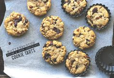 Butterscotch Pecan & Dark Chocolate Cookie Tarts | The Sugar Hit