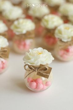Set of 10 Blush Wedding Favors Jar with Candies and Flower Candy favors Wedding Favors for guests Bridal party Favor Baby Shower Favors wedding Pink wedding Wedding Favour Jars, Wedding Favours Luxury, Elegant Wedding Favors, Beach Wedding Favors, Wedding Favors For Guests, Bridal Shower Favors, Luxury Wedding, Summer Wedding, Candy Wedding Favors
