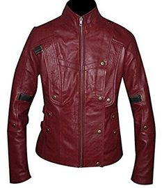 Starlord Guardians of the Galaxy Women's Biker Synthetic Leather Jacket: Amazon.co.uk: Clothing