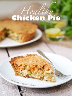 Chicken Pot Pie (keto, low-carb, primal)