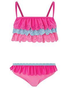 Accessorize   Fiona Flamingo Printed Bikini   Multi   5-6 Years   4830469925