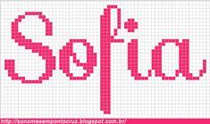Nomes em Ponto Cruz: Sofia - Nomes em Ponto Cruz
