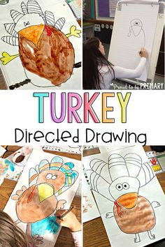 Looking for the perfect arts and craft activity for Thanksgiving? This turkey directed drawing provides teachers with a step-by-step lesson that kids will love! THESE turkeys turn out FANTASTIC! #howtodrawaturkey #turkeycrafts #thanksgivingcraftideas #thanksgivingart