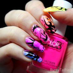BunnyTailNails: Hot Pink Punk!