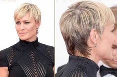 Robin Wright Haircut / How to Style Short Hair Like Robin Wright Pixie Haircut 2014, Short Pixie Haircuts, Cute Hairstyles For Short Hair, Hairstyles Haircuts, Short Hair Cuts, American Hairstyles, Pixie Cuts, Pretty Hairstyles, Robin Wright Haircut