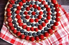 #independenceday #4thofjuly #recipe for your sweet tooth http://www.foodmatters.com/recipe/4th-of-july-raw-berry-tart
