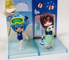Evangelion Rei Ayanami & Mari Summer Ver. Mini Figure Set Petit EVA JAPAN ANIME