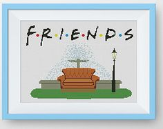 BUY 2 GET 1 FREE Friends Central Perk Cross by NataliNeedlework