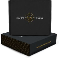 Happy Rebel Box carefully curates modern luxe fashion, beauty, and lifestyle pieces and ship them directly to your door. Clothing Packaging, Fashion Packaging, Beauty Packaging, Black Packaging, Box Packaging, Coffee Packaging, Label Design, Box Design, Pantone