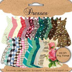 Sweetly Scrapped: Freebie Printable Dresses