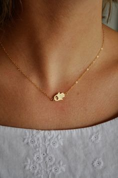 "hamsa necklace, international symbol of protection. ""the hand of God"""