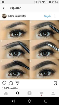 eyebrows tutorial Are you wanting to fill in eyebrow tutorial? I will explain ! Come on prim . Eyebrow Makeup Tips, Eye Makeup Tips, Skin Makeup, Eyebrow Brush, Makeup Eyebrows, Perfect Eyebrow Shape, Perfect Brows, Eyebrow Tutorial, Maquillage Halloween