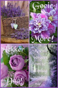 Good Morning Prayer, Morning Blessings, Morning Prayers, Good Morning Wishes, Good Morning Quotes, Beautiful Collage, Beautiful Words, Lekker Dag, Afrikaanse Quotes