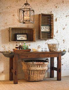 Bob Timberlake Rectangular Coffee Table W Display Glass