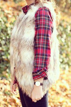 Pretty fur vest.