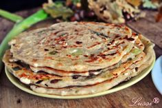 Homemade Flatbread with Leeks - Gözleme