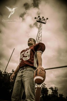 Senior guy photography football