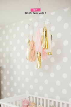 Paper Decor Ideas: DIY Tassel Mobile #storkcraftnursery