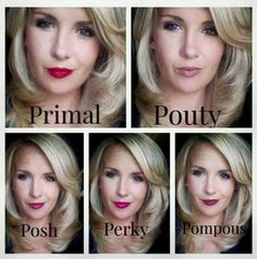 If you want to see the Younique Precision Pencil lip liners in action look no further! See Primal, Pouty, Posh, Perky and Pompous applied all over the lips in place of lipstick.