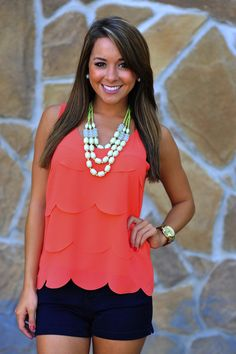 Jumping Jacks Tank Top: Coral