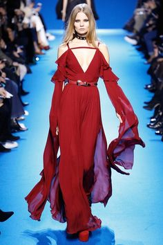 Catwalk photos and all the looks from Elie Saab Autumn/Winter 2016-17 Ready-To-Wear Paris Fashion Week
