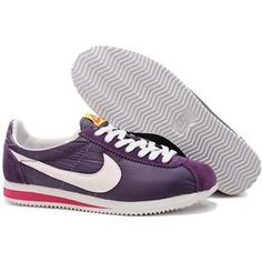 http://www.asneakers4u.com/ Women Nike Cortez Oxford Cloth Deep Purple White Shoes