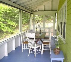 Bug free dining on huge screened porch.