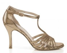Bandolera Liù Caviale Oro Heel 9 – Shoeskinn Dance Shoes