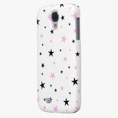 It's cool! This Pink and Black Stars  Samsung Galaxy S4 Covers is completely customizable and ready to be personalized or purchased as is. Click and check it out!