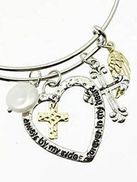 A personal favorite from my Etsy shop https://www.etsy.com/listing/222330422/charm-wire-bangle-bracelet