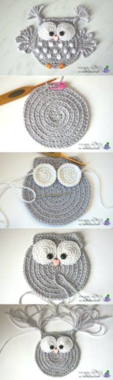 Baby Knitting Patterns 5 ungelesene Chats knitting and crochet Baby Knitting Patterns 5 ungelesene Chats (NewBorn Baby Stuff) Crochet Owl Applique, Crochet Motif, Crochet Flowers, Crochet Stitches, Crochet Shawl, Blanket Crochet, Crochet Birds, Crochet Squares, Granny Squares
