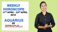 #Aquarius - #Weekly #Horoscope for 17th to 23rd #April 2016 #astrology #Zodiac