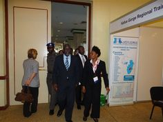 Our Managing Director, Michelle Fanus and Prof. Bart Nnaji at WAPIC - West African Power Industry Convention 2012