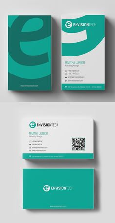 Simple Clean Business Card Business Cards Design Pinterest