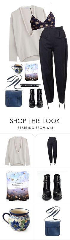 """well, well, well"" by vampirliebling ❤ liked on Polyvore featuring Brunello Cucinelli, Nikki Strange, Prada and Madewell"