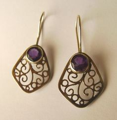 Silver filigree earrings by GeshaR.deviantart.com