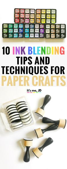 Ink Blending Tips and Techniques for Paper Crafts, Distress, Oxide, Card Making, DIY